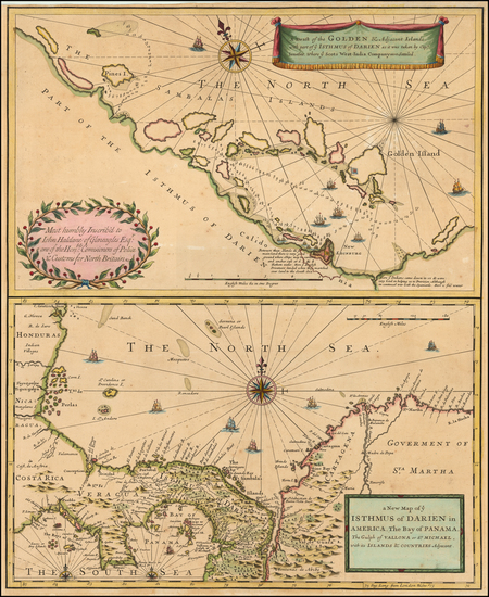 Central America Map By John Senex