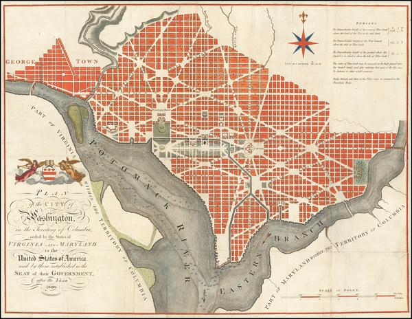 64-Washington, D.C. Map By John Russell