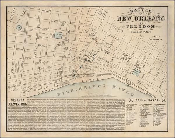 38-Louisiana Map By Thomas Sydenham Hardee