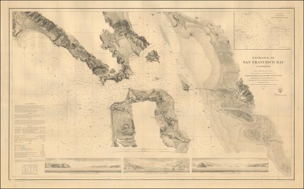 86-California and San Francisco Map By U.S. Coast Survey