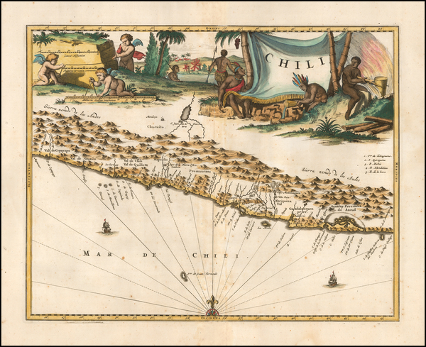 78-Chile Map By John Ogilby
