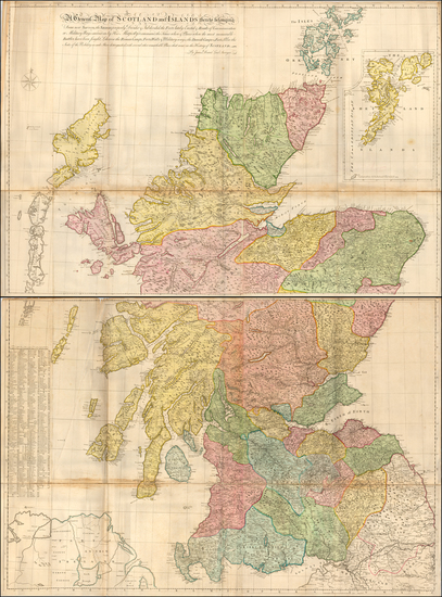 32-Scotland Map By James Dorret