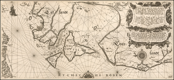 58-Baltic Countries and Finland Map By Willem Janszoon Blaeu
