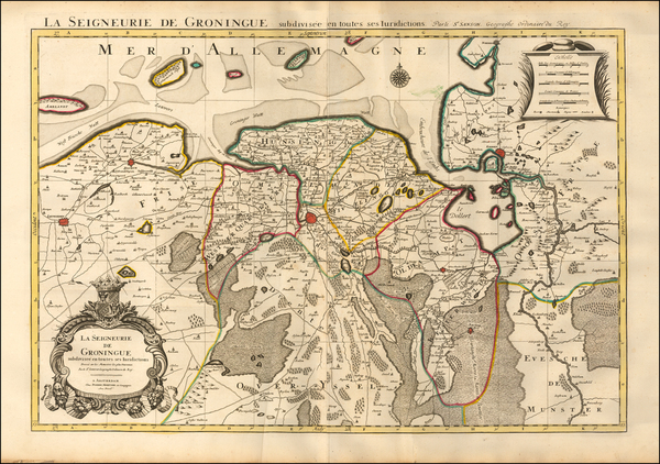 66-Netherlands Map By Pieter Mortier