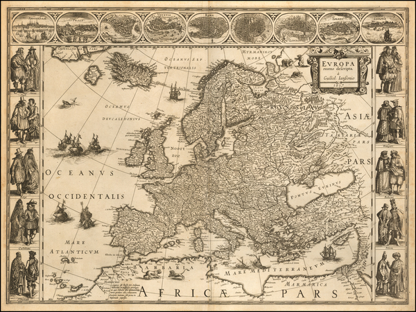 83-Europe Map By Willem Janszoon Blaeu
