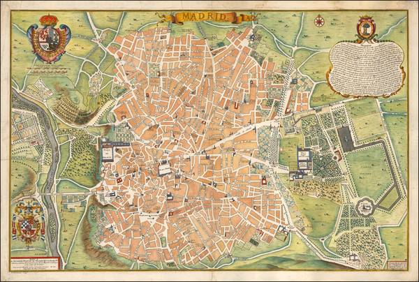 39-Spanish Cities Map By Nicolas de Fer