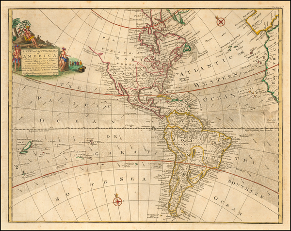 46-Western Hemisphere and America Map By Thomas Bowen
