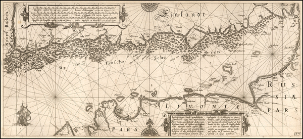 50-Russia, Baltic Countries and Finland Map By Willem Janszoon Blaeu
