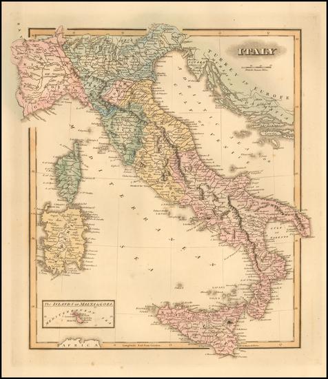 95-Italy Map By Fielding Lucas Jr.