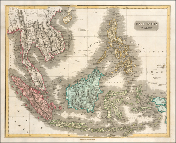 48-Southeast Asia, Philippines, Indonesia and Malaysia Map By Daniel Lizars