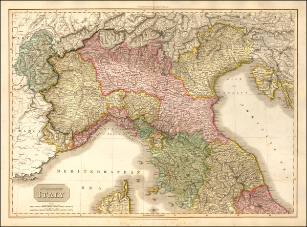 85-Northern Italy Map By John Pinkerton