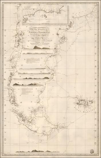 5-South America, Argentina and Chile Map By Direccion Hidrografica de Madrid