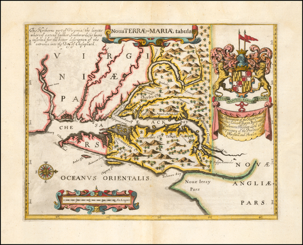 40-Maryland and Delaware Map By John Ogilby