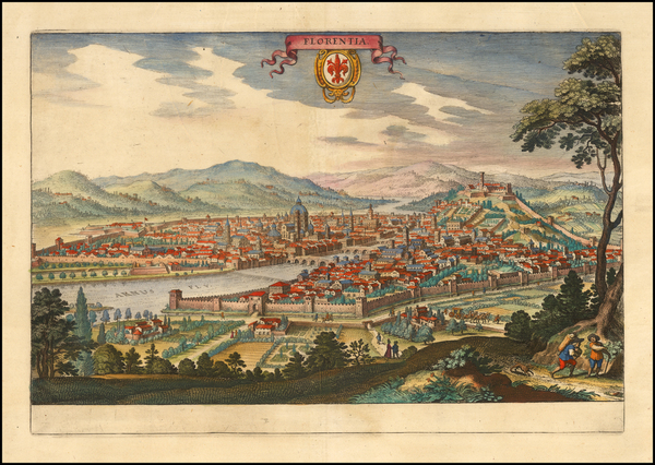 73-Other Italian Cities Map By Matthaus Merian