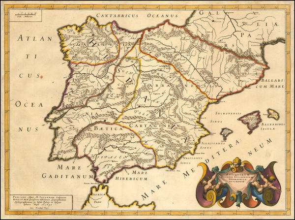 Spain Map By Melchior Tavernier