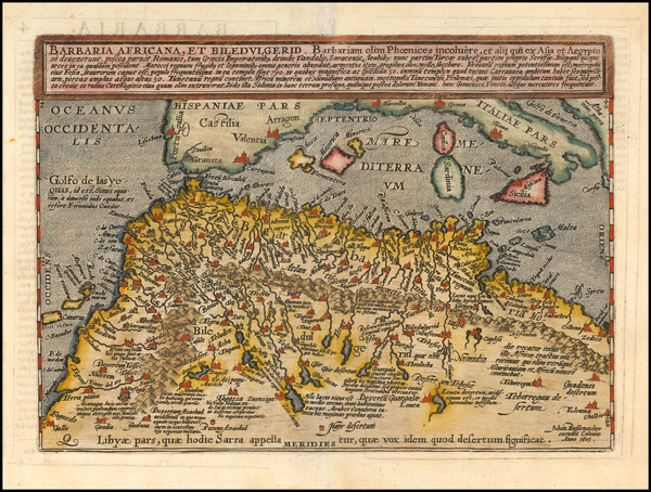 36-Mediterranean and North Africa Map By Matthias Quad / Johann Bussemachaer