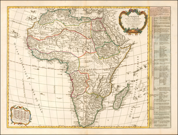 Africa Map By Charles Francois Delamarche