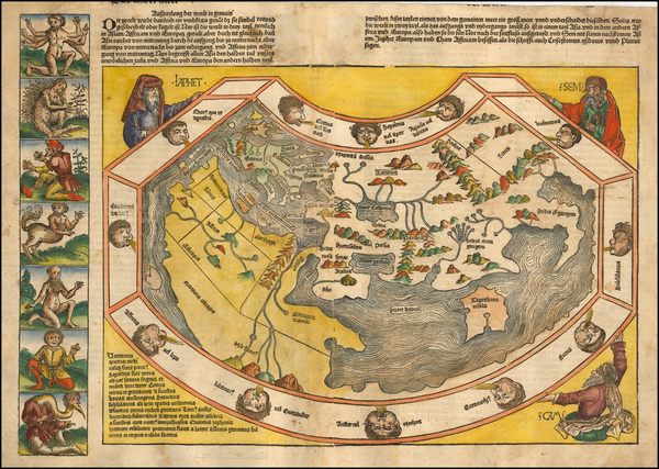 44-World Map By Hartmann Schedel