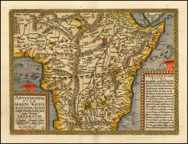51-Africa and East Africa Map By Matthias Quad / Johann Bussemachaer
