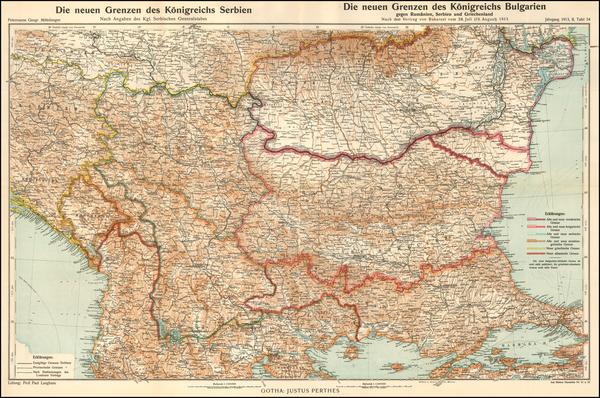 45-Serbia and Bulgaria Map By Augustus Herman Petermann