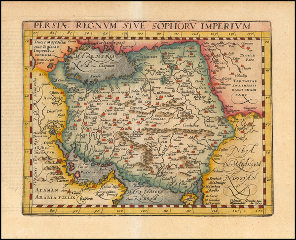 12-Central Asia & Caucasus and Middle East Map By Matthias Quad / Johann Bussemachaer