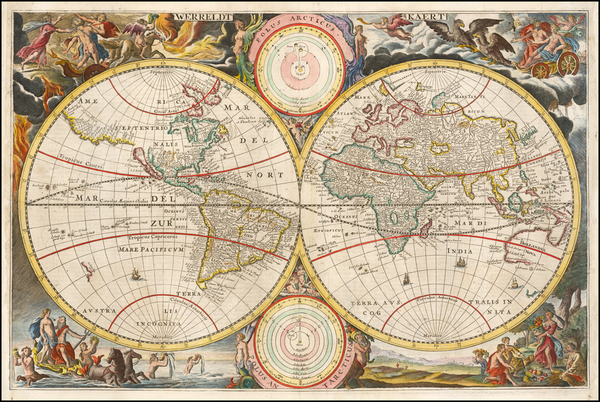 World and California as an Island Map By Jacob Van de Putte