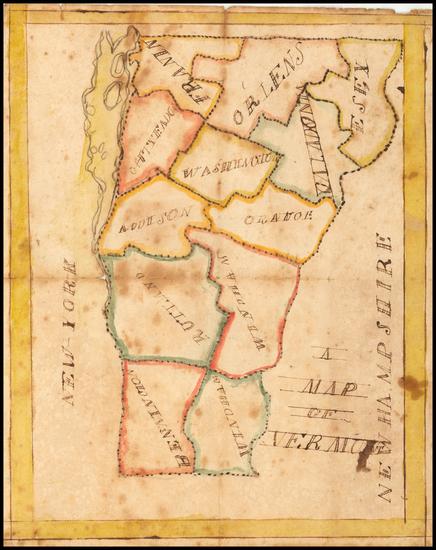 90-Vermont Map By Martin  H. Flint