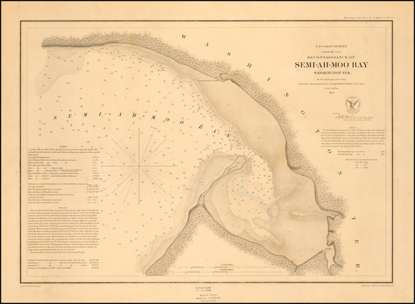 29-Washington Map By United States Coast Survey - George Davidson
