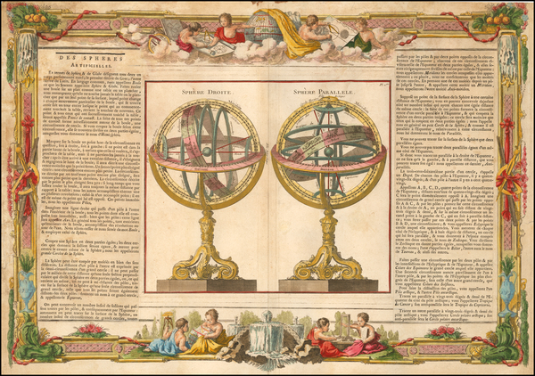 1-World and Celestial Maps Map By Louis Brion de la Tour / Louis Charles Desnos