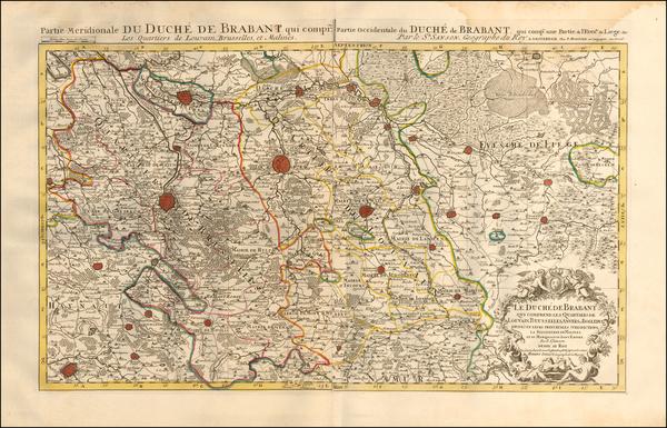 80-Belgium Map By Pierre Mortier