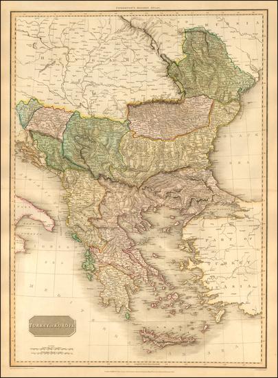 29-Romania, Balkans, Greece and Turkey Map By John Pinkerton