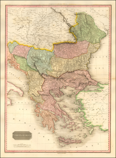 91-Romania, Balkans, Greece and Turkey Map By John Pinkerton