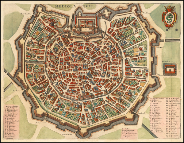 23-Northern Italy and Other Italian Cities Map By Matthaus Merian