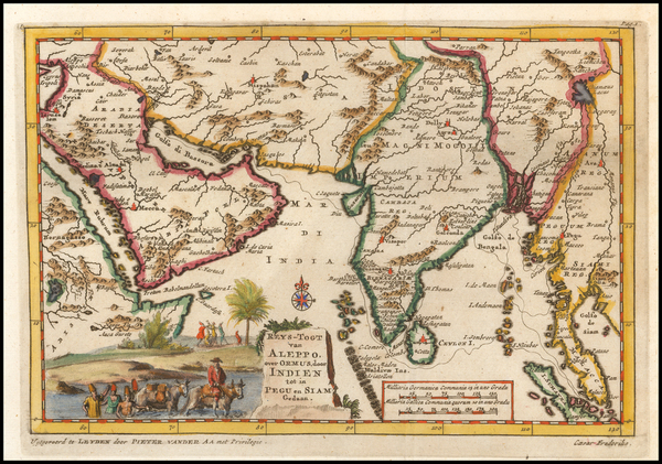 89-India, Southeast Asia and Middle East Map By Pieter van der Aa