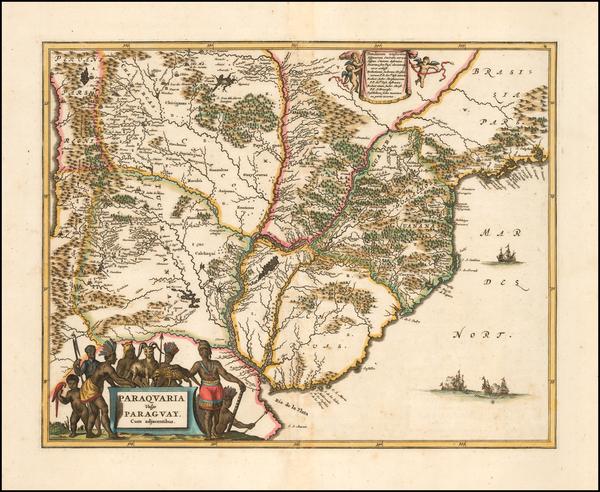 64-Brazil Map By John Ogilby