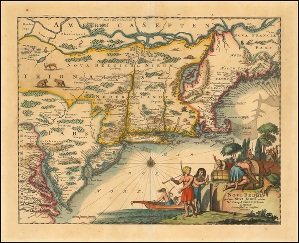 New England and Mid-Atlantic Map By John Ogilby