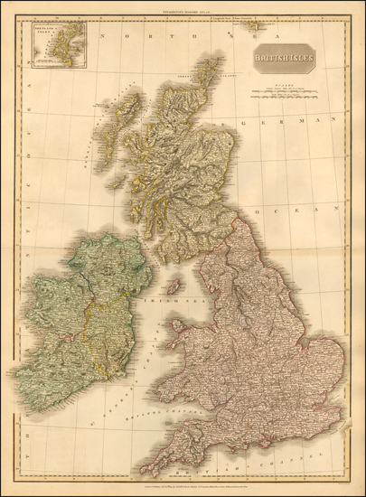 30-British Isles Map By John Pinkerton