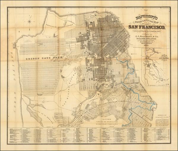 40-San Francisco Map By A.L. Bancroft & Co.