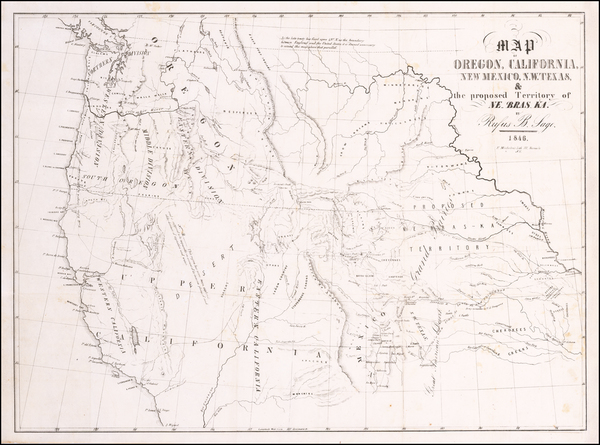 41-Texas, Plains, Nebraska, Southwest, Rocky Mountains, Oregon, Washington and California Map By R