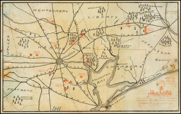 22-Texas Map By Knox Oil Co