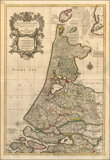 Netherlands Map By Pieter Mortier