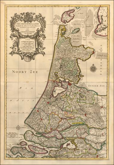 78-Netherlands Map By Pieter Mortier