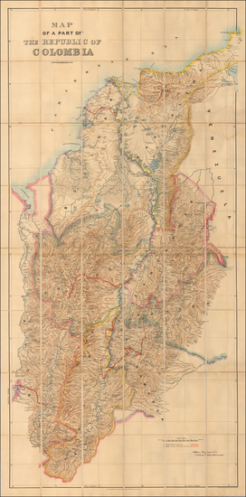 54-Colombia Map By Edward Stanford