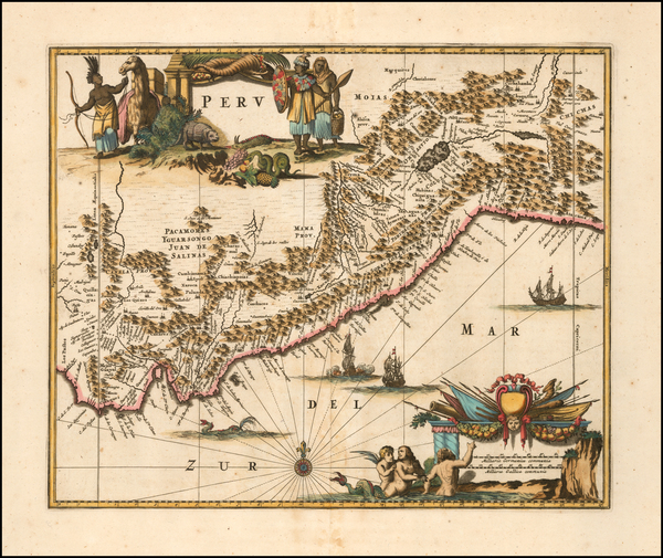 Peru & Ecuador Map By John Ogilby