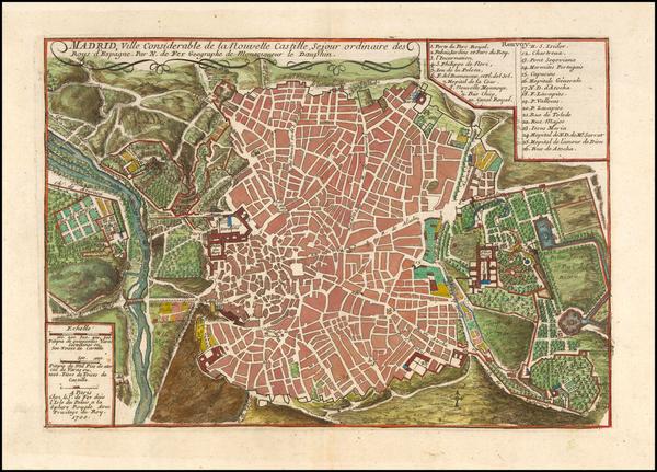 Spain Map By Nicolas de Fer