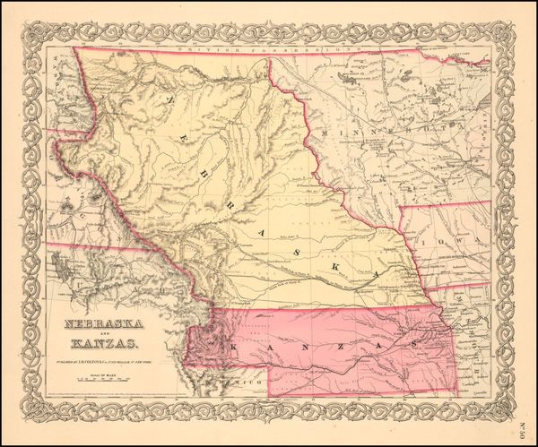8-Plains, Kansas, Nebraska, Colorado, Rocky Mountains, Colorado and Montana Map By Joseph Hutchin