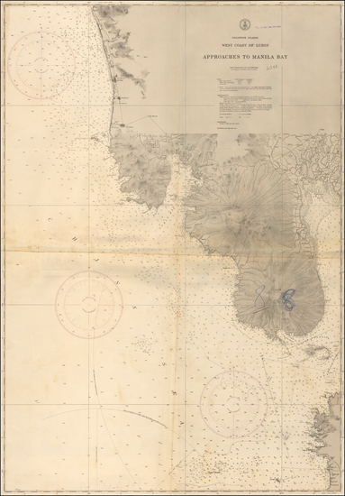 60-Philippines Map By U.S. Coast & Geodetic Survey