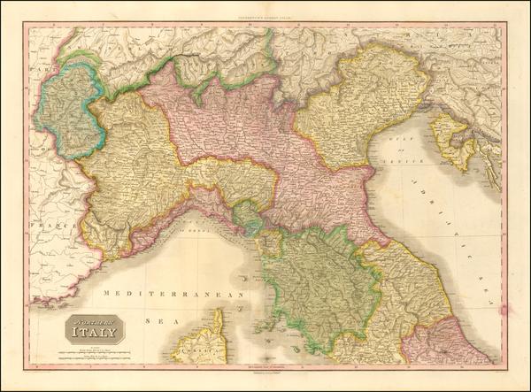 9-Northern Italy Map By John Pinkerton