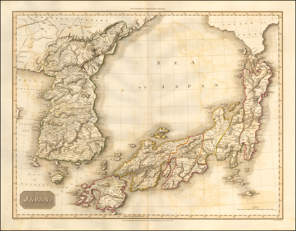 57-Japan and Korea Map By John Pinkerton