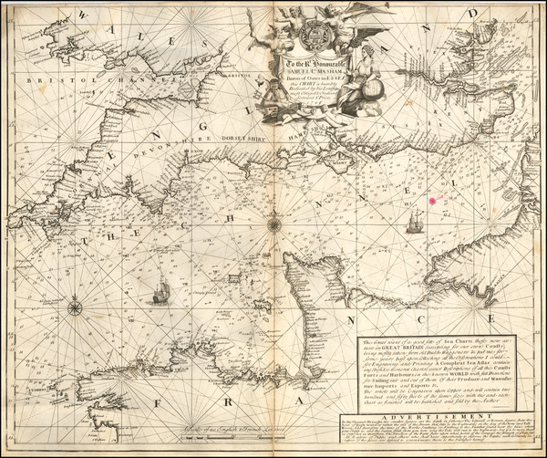 55-British Isles, England and France Map By Charles Price
